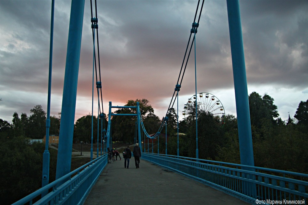 Тамбов. Мост через Цну в городской сад. Фото 15 сентября 2020 года