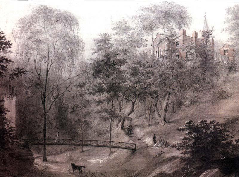 Э.А. Дмитриев-Мамонов. У Грота в парке Мары. Ок. 1861 г.