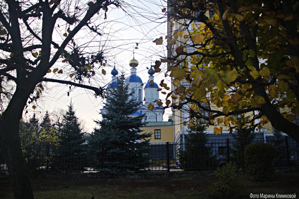 Казанский собор Казанского мужского монастыря. Тамбов. Фото 3 ноября 2020 года