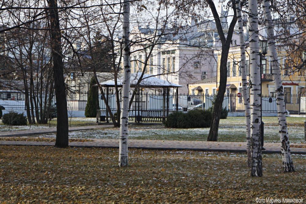 В городском саду. Тамбов. Фото 19 ноября 2020 года