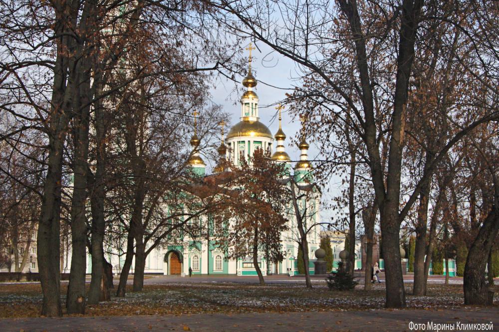 Спасо-Преображенский кафедральный собор. Тамбов. Фото 19 ноября 2020 года