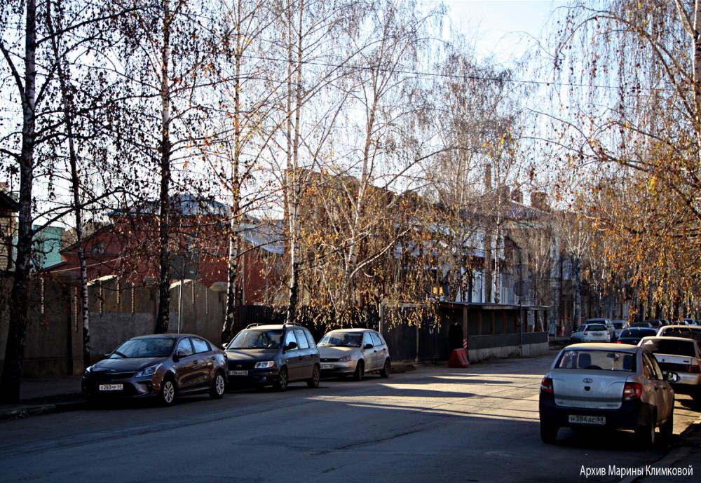Улица Лермонтовская. Тамбов. Фото 9 декабря 2020 года