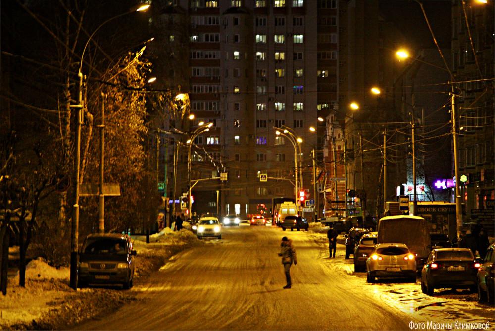 Улица Московская. Тамбов. Фото 27 декабря 2020 года