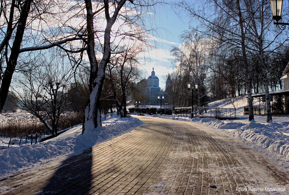 Вид на Покровскую церковь с Набережной. Тамбов