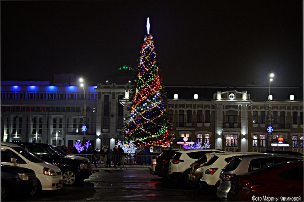 Тамбов. Ленинская площадь. Фото 7 января 2021 года