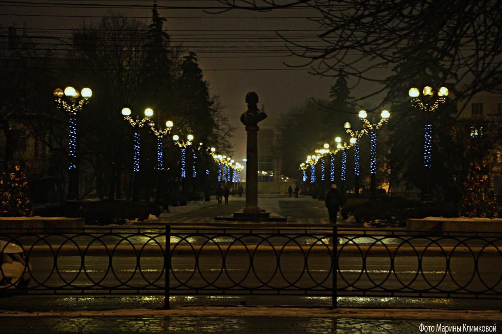 Тамбов. Улица Державинская. Фото 7 января 2021 года