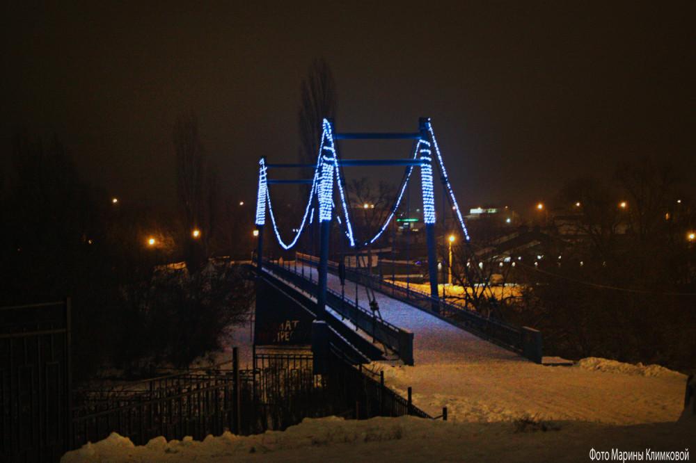 Тамбов. Мост через Цну около городского парка. Фото 7 января 2021 года