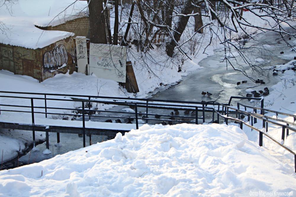 На Студенце. Тамбов. Фото 17 января 2021 года