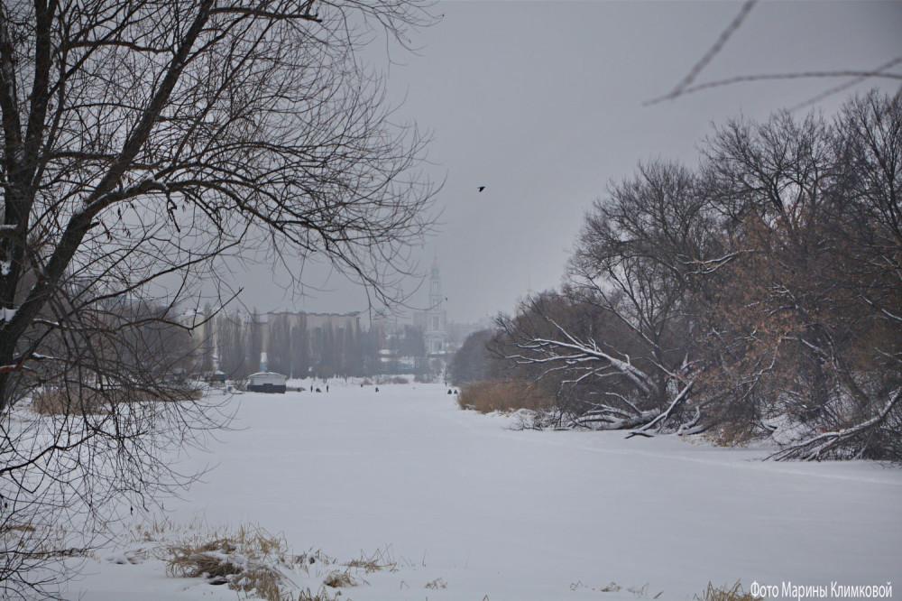 Река Цна. Тамбов. Фото 22 января 2021 года