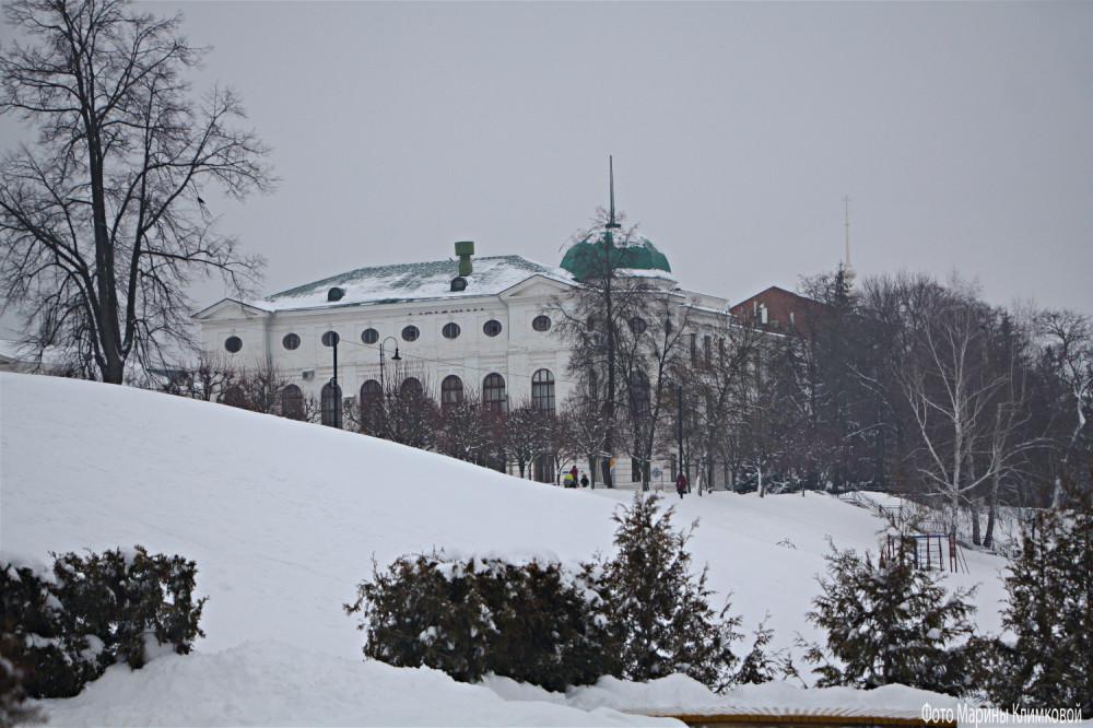 Здание ТГТУ. Тамбов. Фото 22 января 2021 года