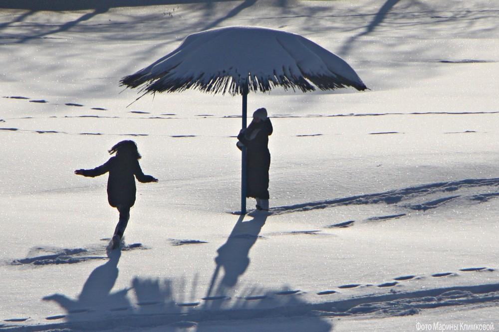 На берегу замерзшей реки. Тамбов. Фото 17 января 2021 года