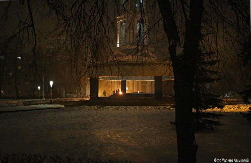 Соборная площадь. Вечный огонь. Тамбов. Фото 7 января 2021 года