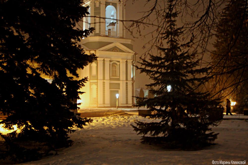 Соборная площадь. Тамбов. Фото 7 января 2021 года