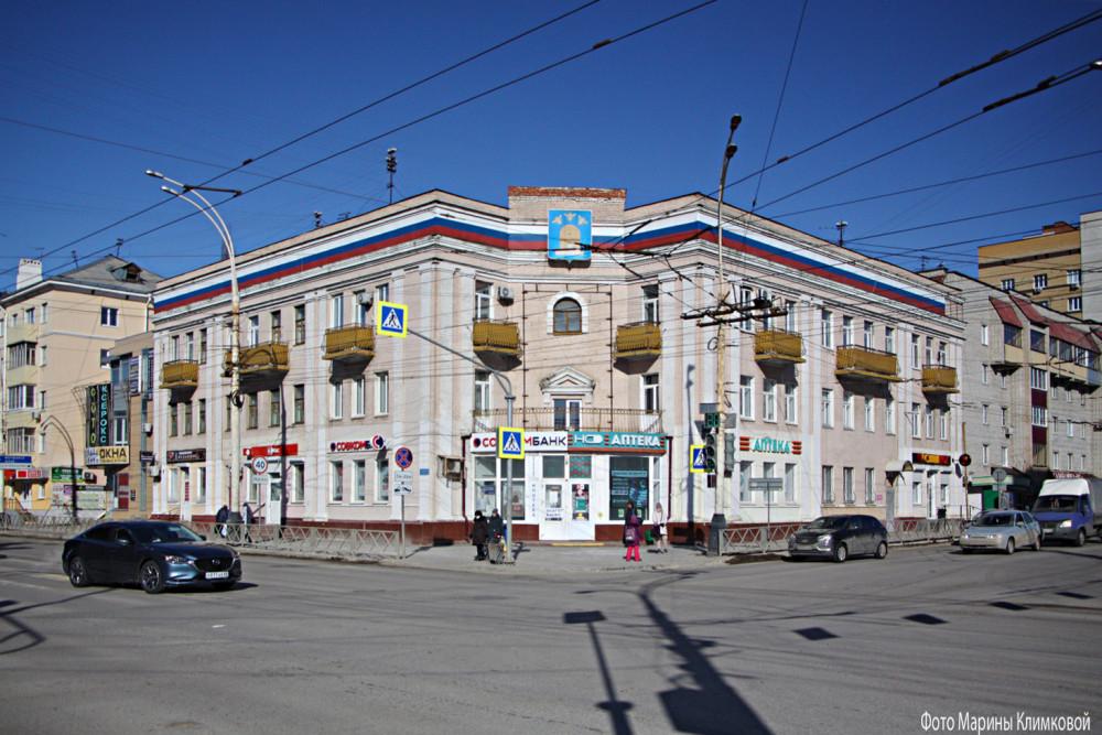 Тамбов. Перекресток улиц Советской и Московской. Фото 11 марта 2021 года