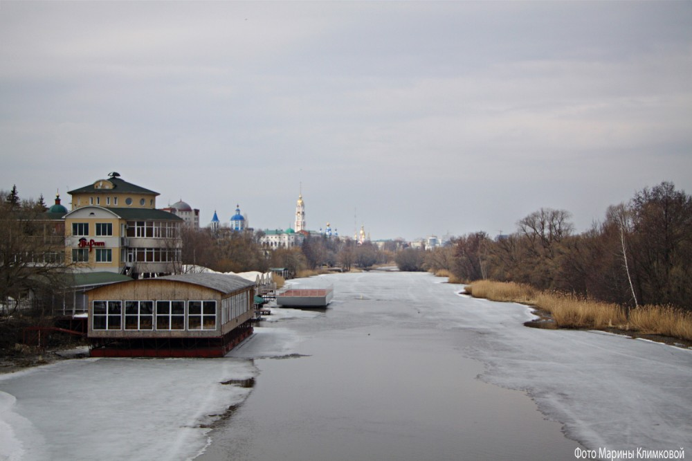 Тамбов. Река Цна. Фото 1 апреля 2021 года