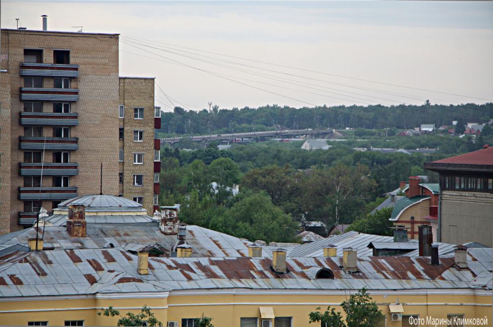 Тамбов. Вид на Астраханский мост. Фото 21 мая 2021 года