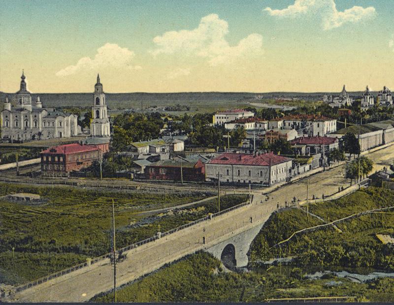 Державинский мост в Тамбове. Фото нач. 19 в.