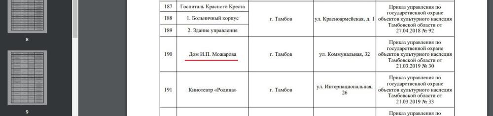 Новый реестр объектов культурного наследия регионального значения