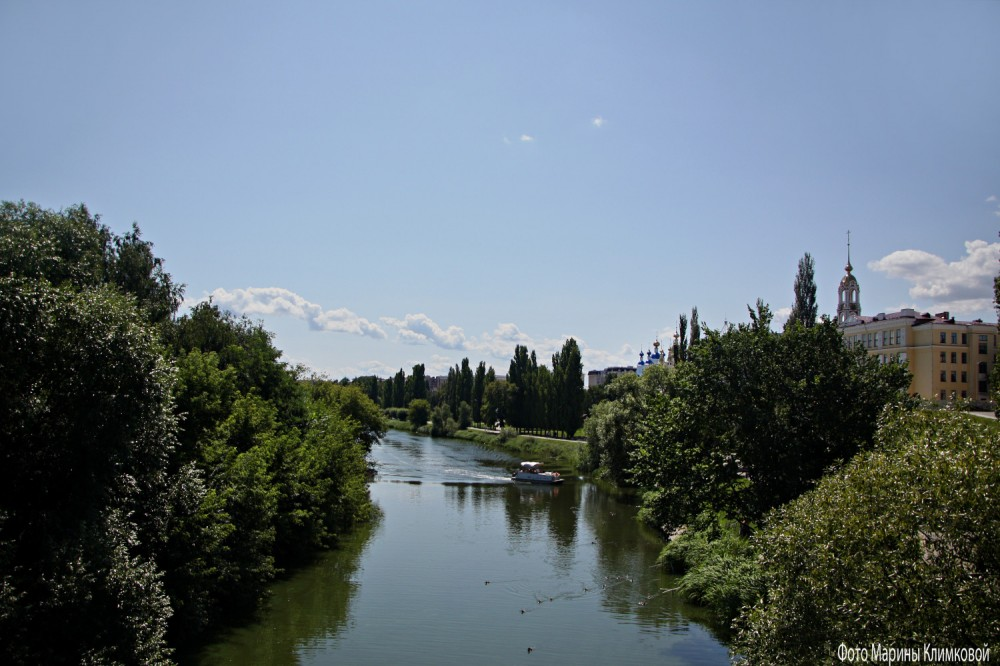 Тамбов. Река Цна. Фото 25 июля 2021 года