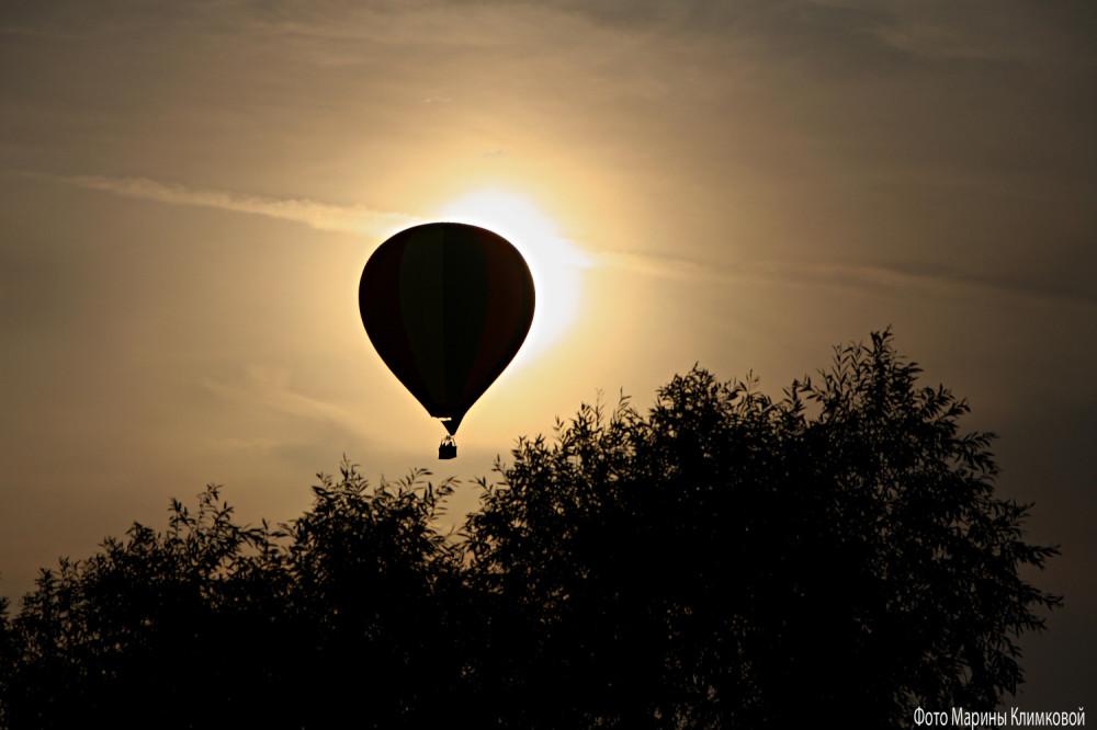 Воздушный шар над городом Тамбовом. Фото 31 августа 2021 года