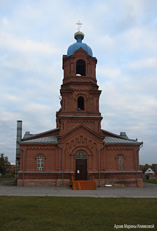 Никольская церковь в селе Пушкари Тамбовского района. Фото 5 октября 2021 года