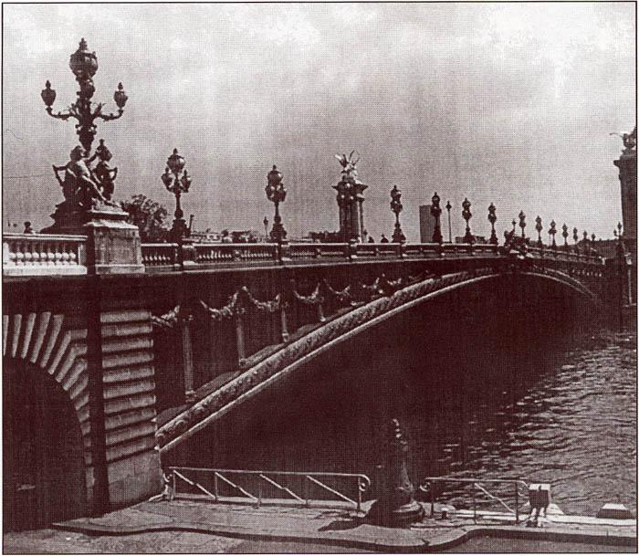 Троицкий мост в Петербурге. Дореволюционное фото