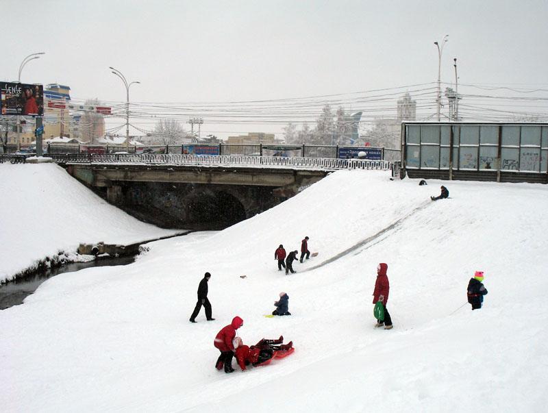 Около Державинского моста. Фото 2 января 2012 г.