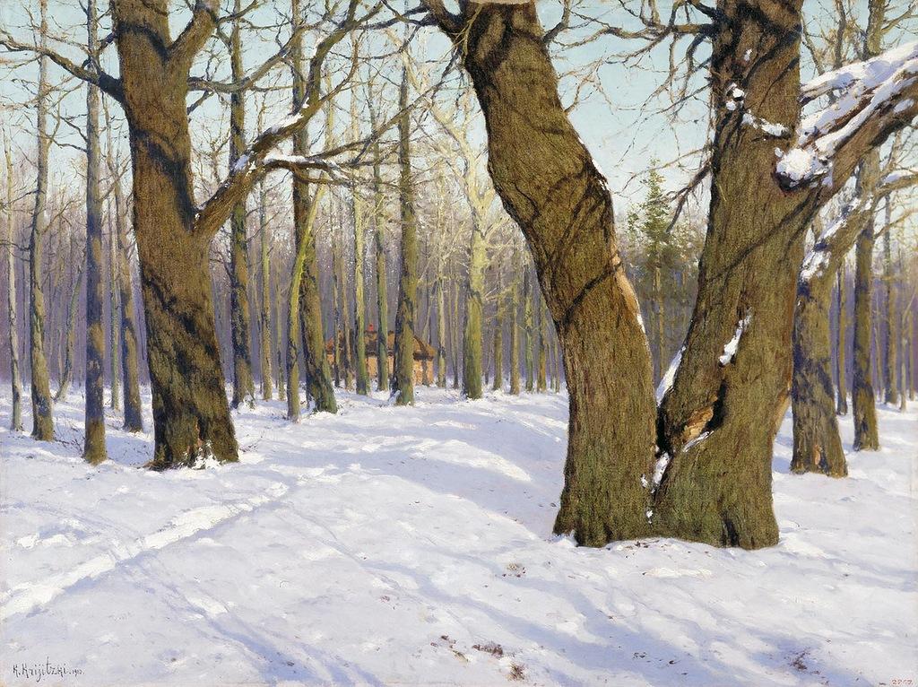 К. Крыжицкий. Повеяло весной. 1910
