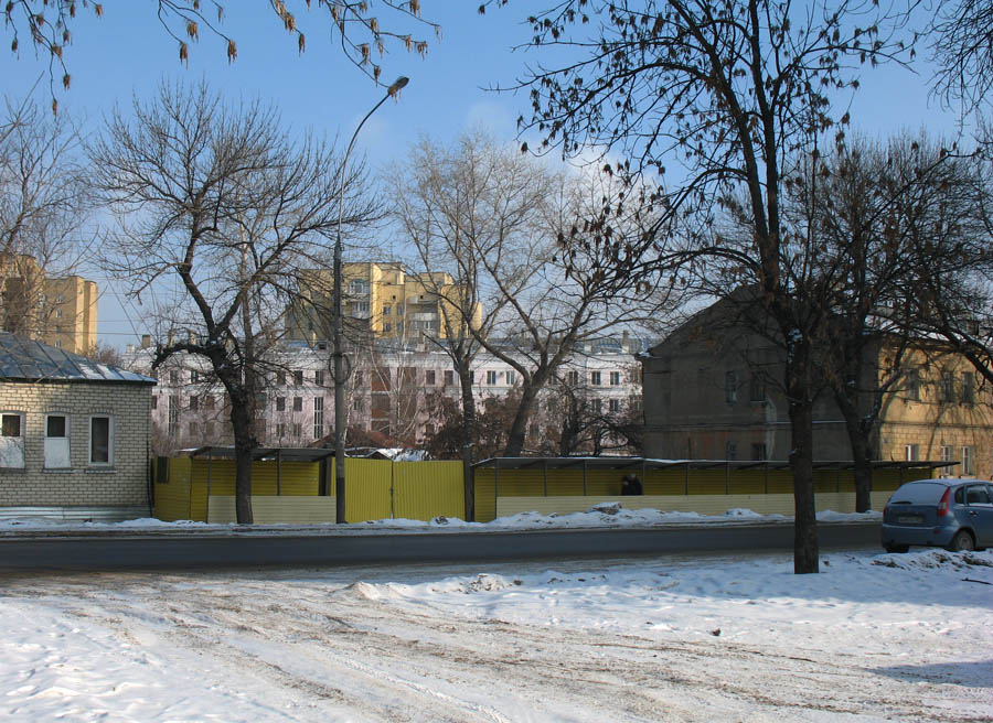 На месте дома М.А. Боратынского. Тамбов. Фото 19 февраля 2013 г.