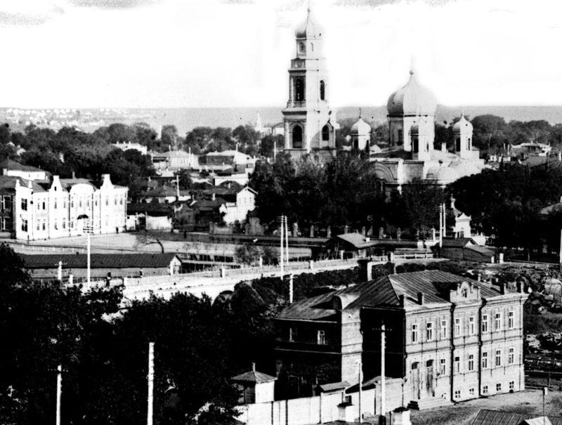 Державинский мост и Троицко-Никольская церковь.Тамбов. Фото начала XX в.