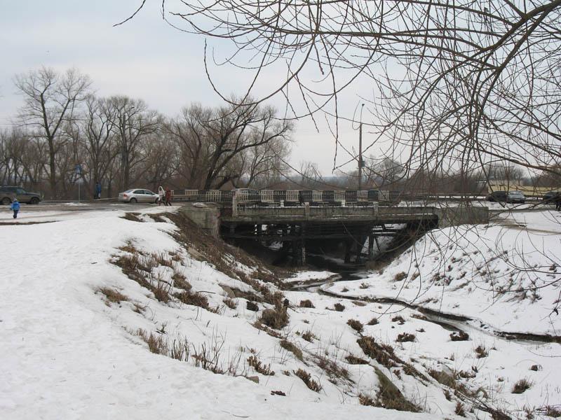 Замятинский мост. Фото 27 февраля 2013 г.