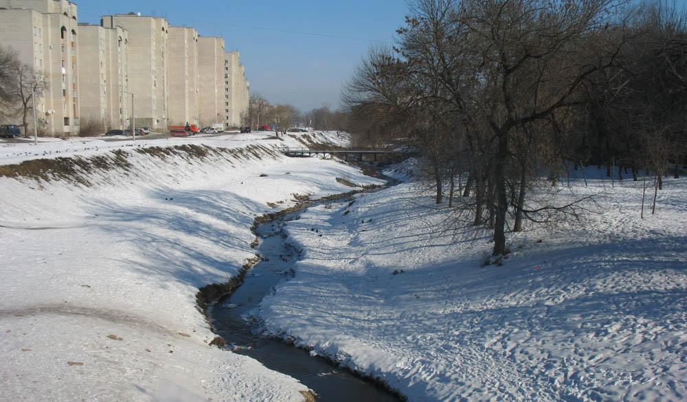 Студенецкая набережная. Вид с Державинского моста. Фото 24 февраля 2013 г.