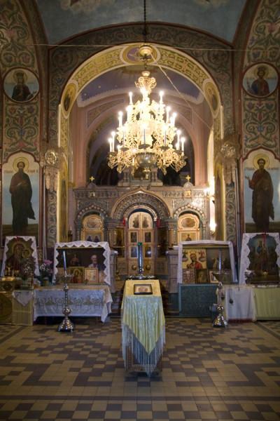 Интерьер Благовещенской церкви – центральная часть. Фото 2009 г.