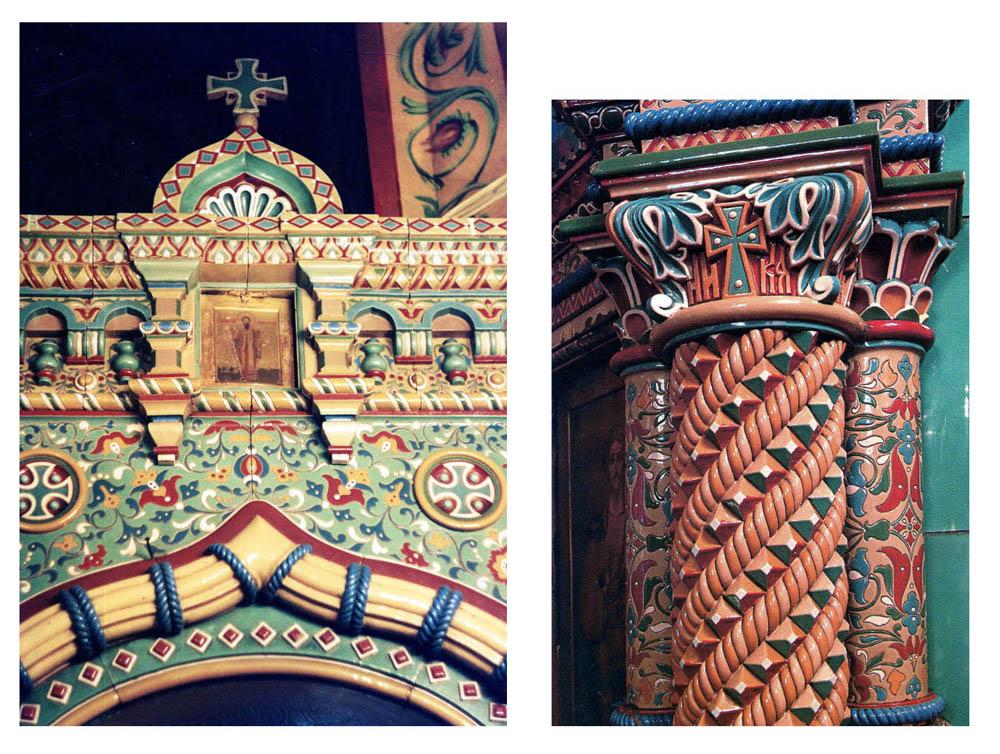 Детали изразцового иконостаса Благовещенской церкви.