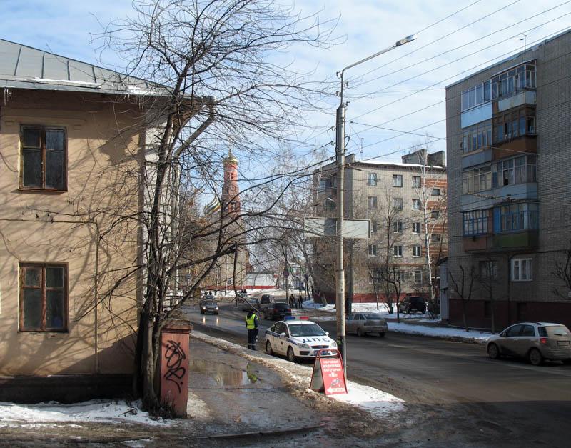 Патруль на улице Московской