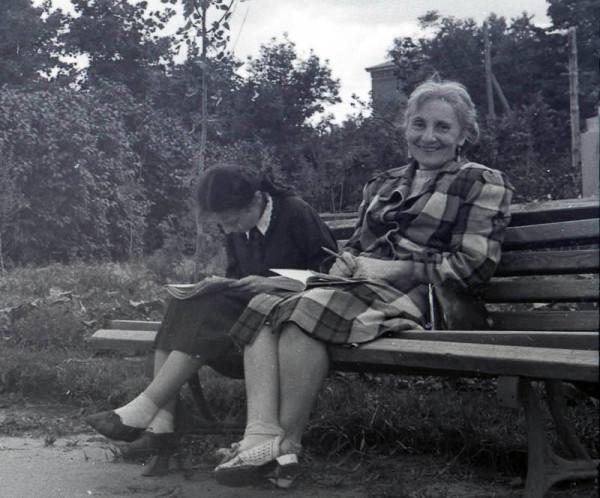 В городском саду. Тамбов. Фото около 1950 г.