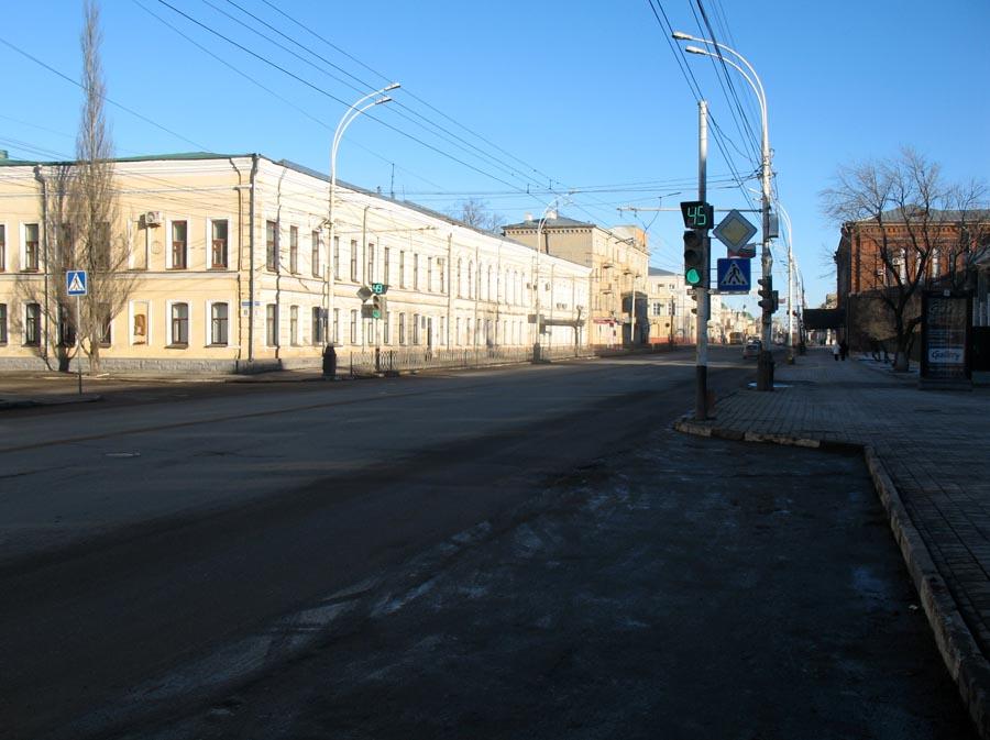 Здание бывшей мужской гимназии. Тамбов. Фото 8 марта 2013 г.