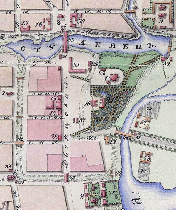 План города Тамбова. 1832. Фрагмент
