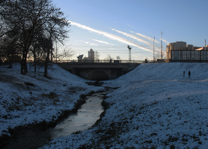 Мост через Студенец в Тамбове. Фото 12 декабря 2012 г.