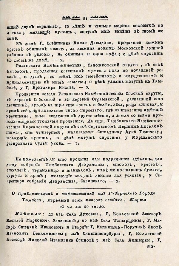 Тамбовские известия,  1788. №13