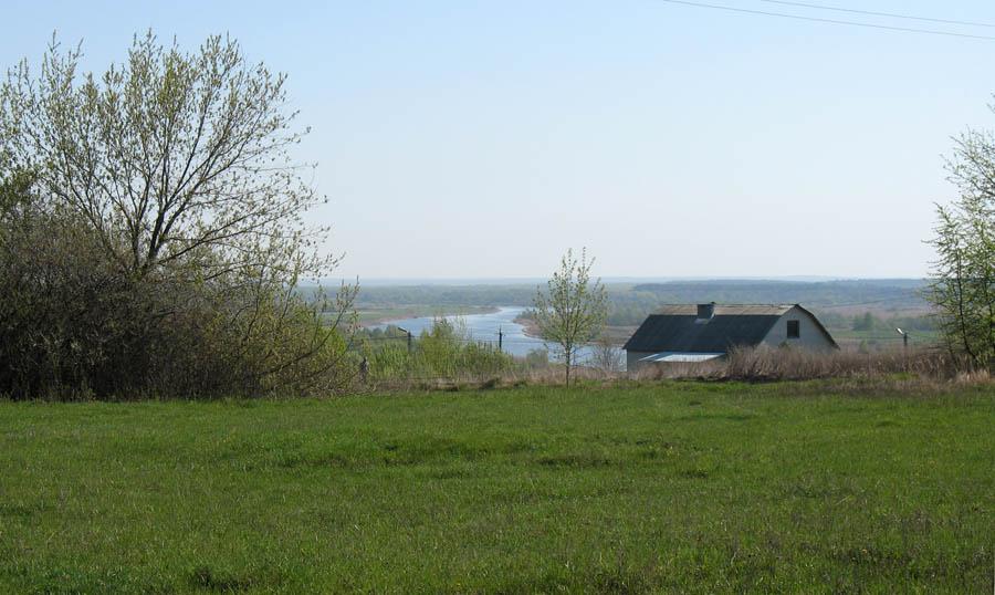 Река Цна у Моршанска. Фото 4 мая 2010 г.