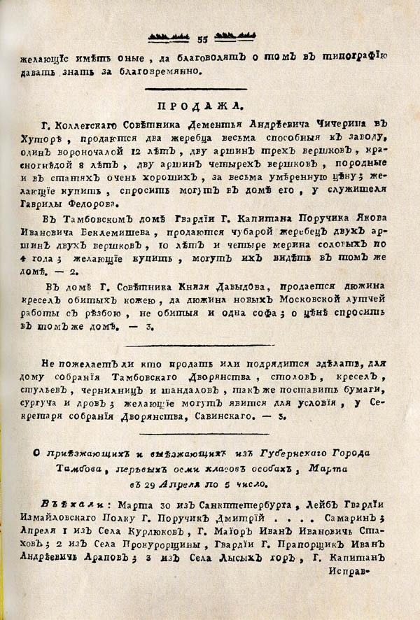 Тамбовские известия,  1788. №14