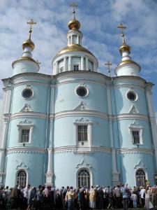 Тамбовский кафедральный Спасо-Преображенский собор. Фото 19 августа 2012 г.