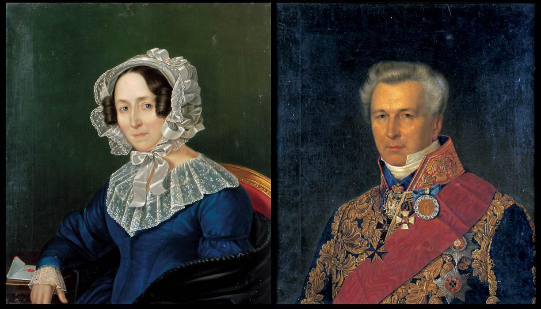 Портреты Натальи Федоровны Боде (урожденной Колычевой) и Льва Карловича Боде