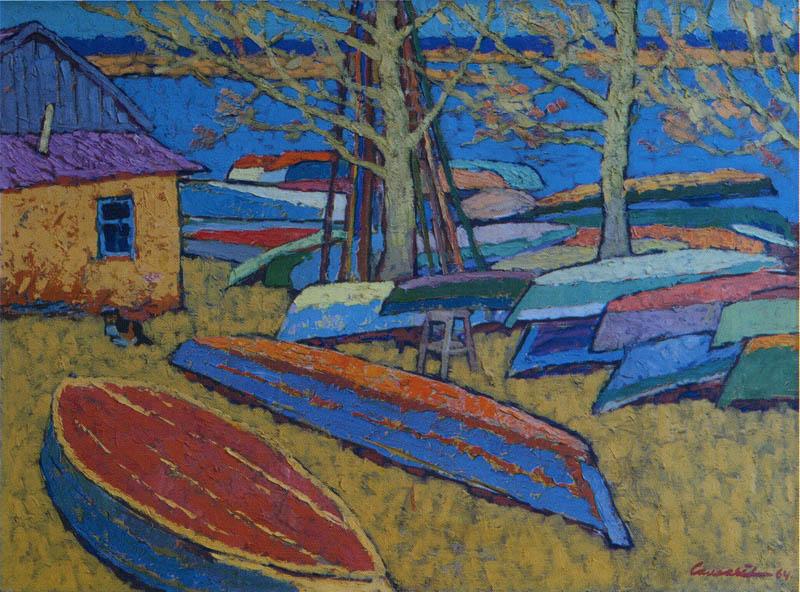Е. Соловьёв. Лодки. 1964