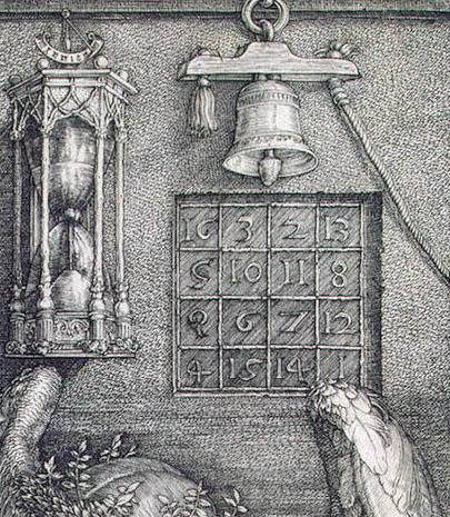 Магический квадрат на гравюре А. Дюрера