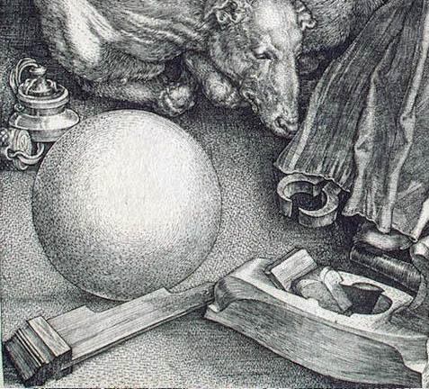 А. Дюрер. Меланхолия. 1514. Фрагмент