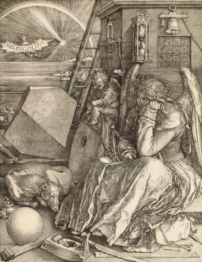 2. А. Дюрер. Меланхолия. 1514