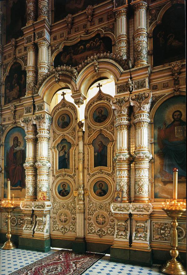 Царские врата главного иконостаса. Архангельский храм с. Мордово