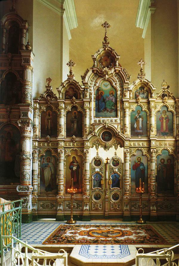 Придельный иконостас Архангельского храма с. Мордово